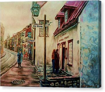 Restaurant Aux Anciens Canadiens Quebec City Canvas Print by Carole Spandau