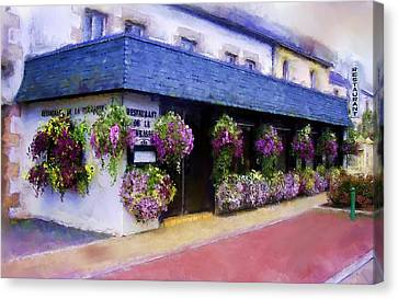 Restaurant De La Terrasse Canvas Print by Michael Greenaway