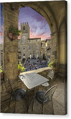 Restaurant In Tuscany Canvas Print