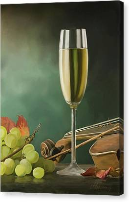 Restaurant Menu Paintings Canvas Print by Michael Greenaway