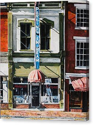 Restaurant Canvas Print by Thomas Akers