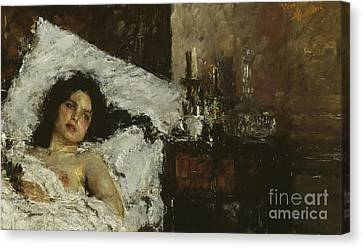 Resting Canvas Print by Antonio Mancini
