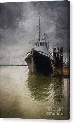 Resting At The Dock Canvas Print