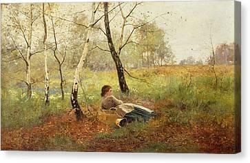 Resting Canvas Print by Benjamin Sigmund
