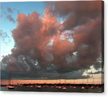 Canvas Print featuring the photograph Resting In The Sunset by Carolyn Dalessandro