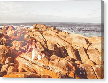 Resting On A Cliff Near The Ocean Canvas Print by Jorgo Photography - Wall Art Gallery