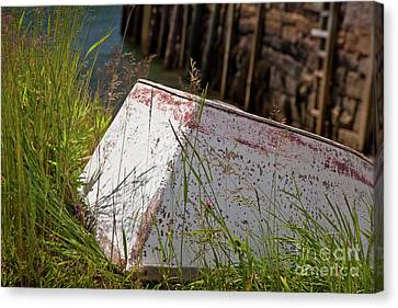 Canvas Print featuring the photograph Resting Rowboat by Susan Cole Kelly