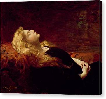 Resting Canvas Print by Victor Gabriel Gilbert