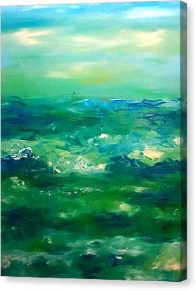 Patricia Taylor Canvas Print - Restless Emerald Sea by Patricia Taylor