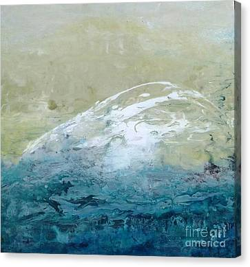 Restless Wave Canvas Print by Cecelia Rust-Barlow