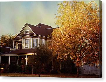 Canvas Print featuring the photograph Restored Queen Anne Victorian by Toni Hopper