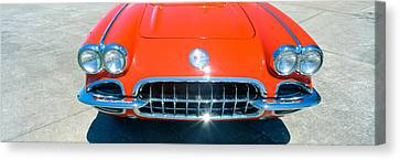 Restored Red 1959 Corvette, Front Canvas Print by Panoramic Images
