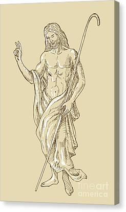 Resurrected Jesus Christ Canvas Print by Aloysius Patrimonio