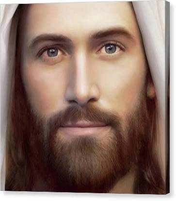 Jesus Canvas Print - Resurrection And The Life Detail by Brent Borup
