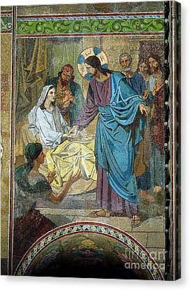 Resurrection Of Jairus's Daughter Canvas Print by MotionAge Designs