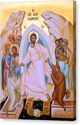 Resurrection Story Canvas Print by Munir Alawi
