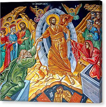 Resurrection To Heaven Canvas Print by Munir Alawi