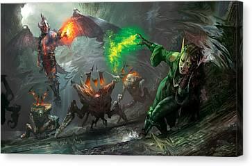Magic Canvas Print - Retaliation Of Ob Nixilis by Ryan Barger