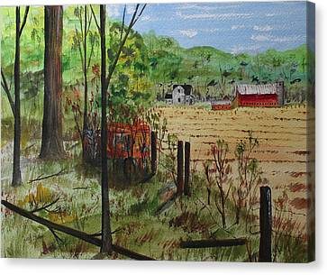 Jack Brauer Canvas Print - Retired And Forgotten by Jack G  Brauer