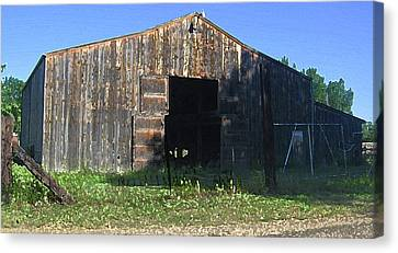 Canvas Print featuring the photograph Retired Barn by Tammy Sutherland