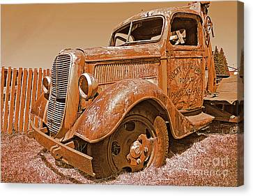 Retired Ford Truck Canvas Print by Rich Walter