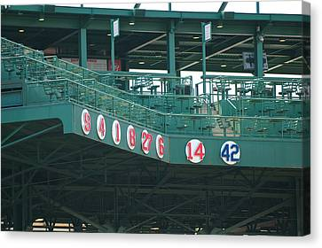 Retired Numbers Canvas Print by Paul Mangold