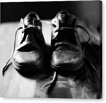 Retired Old Shoes Canvas Print