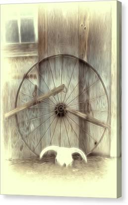 Retired Wagon Wheel Canvas Print
