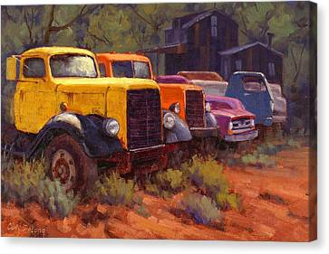 Old Trucks Canvas Print - Retirement Home by Cody DeLong