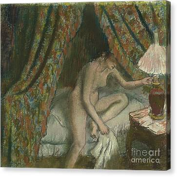 Retiring Canvas Print by Edgar Degas