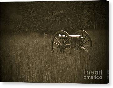 Retreat...never Surrender Canvas Print by Charles Dobbs