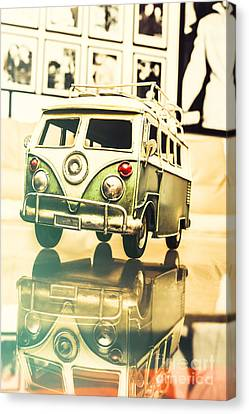 Retro 60s Toy Van Canvas Print by Jorgo Photography - Wall Art Gallery