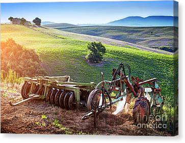 Retro Agriculture Machines. Italy Canvas Print by Michal Bednarek