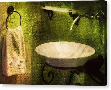 Retro Bathroom Grunge Canvas Print