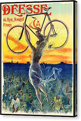 Canvas Print featuring the photograph Retro Bicycle Ad 1898 by Padre Art