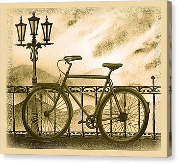 Retro Bicycle Canvas Print