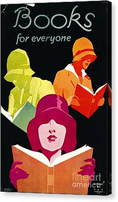 Canvas Print featuring the photograph Retro Books Poster 1929 by Padre Art