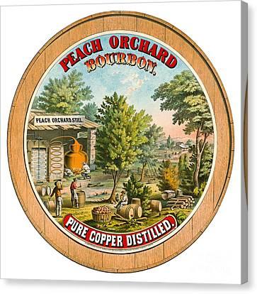 Retro Bourbon Label 1873 Canvas Print by Padre Art