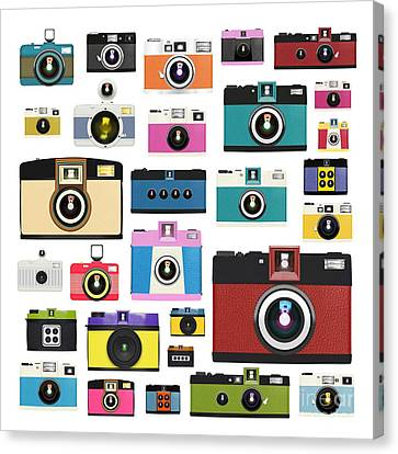 Retro Camera Canvas Print by Setsiri Silapasuwanchai