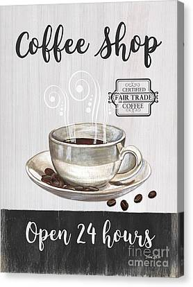 Retro Coffee Shop 1 Canvas Print by Debbie DeWitt