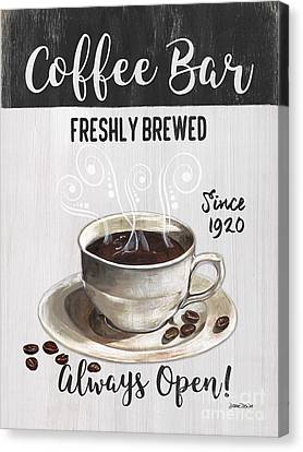 Retro Coffee Shop 2 Canvas Print by Debbie DeWitt