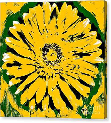 Retro Daisy Canvas Print by Marsha Heiken