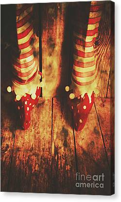 Retro Elf Toes Canvas Print by Jorgo Photography - Wall Art Gallery