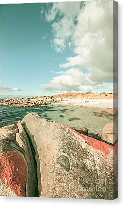 Retro Filtered Beach Background Canvas Print by Jorgo Photography - Wall Art Gallery