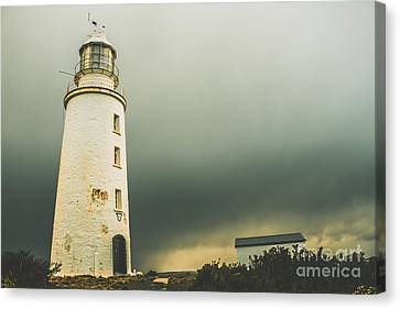 Retro Filtered Lighthouse Canvas Print by Jorgo Photography - Wall Art Gallery