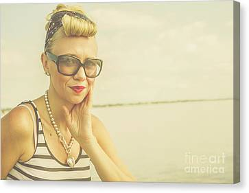 Retro Hair And Fashion Pinup Canvas Print by Jorgo Photography - Wall Art Gallery