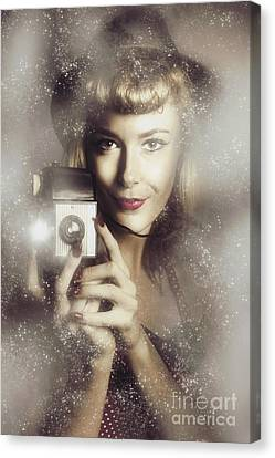 Retro Hollywood Fashion Photographer Canvas Print