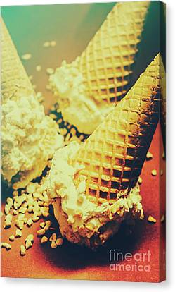 Retro Ice Cream Artwork Canvas Print by Jorgo Photography - Wall Art Gallery