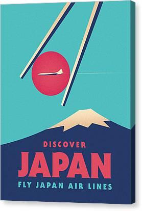 Japan Canvas Print - Retro Japan Mt Fuji Tourism - A by Ivan Krpan