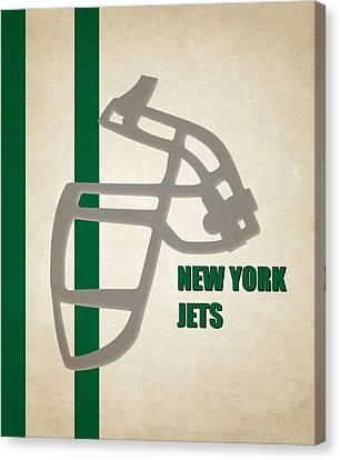 Retro Jets Art Canvas Print by Joe Hamilton